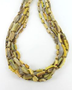 EXTREMELY RARE ANCIENT GLASS DIG BEADS YELLOW from New World Gems