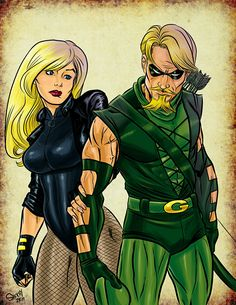 Black Canary and Green Arrow