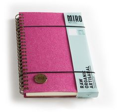 Large 7x10 Coral Felt Notebook #FranklinMill