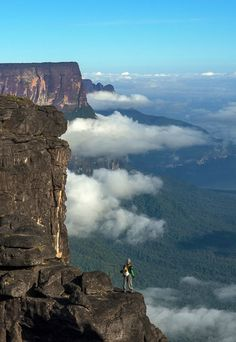 Mt. Roraima also known as Blue or Crystal Mountain, lies on the border of Brazil, Guyana and Venezuela.