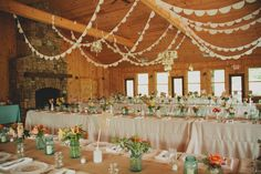 My Venue!!!! -- love the garland/banner