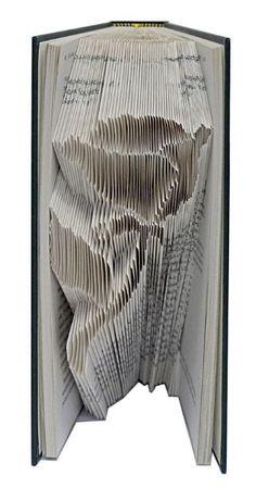 Rose folded book art by TheFoldedBookCompany.co.uk