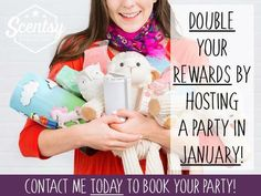 Awesome news #1! Double hostess rewards in JANUARY!!! Let book your party and start earning FREE and HALF PRICE scentsy! - http://ift.tt/1HQJd81