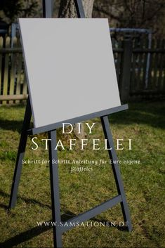 DIY – wie baue ich eine Staffelei für die Hochzeit Step by step instructions with pictures how to build your own easel. Perfect for the seating plan at the wedding or for decoration. Amazing Gardens, Beautiful Gardens, Event Corporate, Unconventional Wedding Dress, Outdoor Venues, Diy Garden Decor, Wedding Beauty, Step By Step Instructions, Event Decor