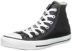 Converse Unisex Chuck Taylor All Star Leather Hi Top Black Sneaker  8 Men  10 Women * Find out more about the great product at the image link.