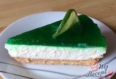 Fantastický cheesecake s limetkou Cheesecake, Food And Drink, Pudding, Desserts, Recipes, Pastries, Drinks, Mascarpone, Drinking
