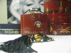 "Vintage Yves St Laurent OPIUM Perfume Parfum .25oz in Box. ""Repinned by Keva xo""."