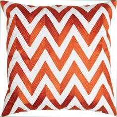 Chevron Toss Cushion - Orange