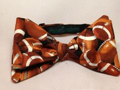 Football Bow tie by ReiserCreations on Etsy