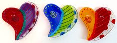I have to include my favorite fusing artist, Anne Nye's Doodle Heart Bowls on this board!