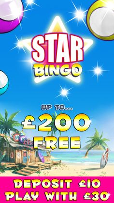 Bored of the same old bingo games? Feeling like you never win? Star Bingo offers new real money players up to £200 FREE!
