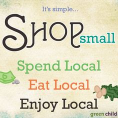 """What does it really mean to """"shop locally""""? (read to find out)"""