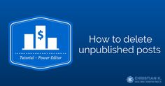 Facebook marketing tutorial on how to delete Facebook unpublished posts or dark posts in Power Editor.