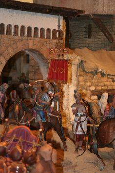 Die römische Soldaten bei ihrer Arbeit. Volkszählung in Betlehem. #Weihnachtskrippe #FroheWeihnachten #legionär #Valencia #belen #belenvalenciana