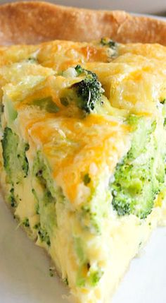 It can be done without crust and substitute milk for cheese quiche with broccoli and half Source by Brunch Recipes, Gourmet Recipes, Vegetarian Recipes, Cooking Recipes, Healthy Recipes, Vegetarian Quiche, Simple Quiche Recipes, Quish Recipes, Recipies