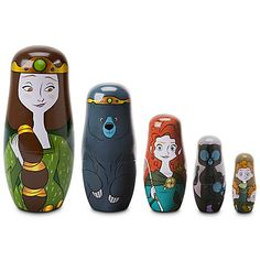 brave nesting dolls/ I would like these even more if the story was better reflected  in the layering of the dolls.