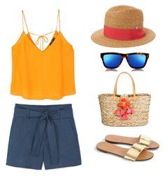 """Summer set"" by liskirs-1 on Polyvore featuring мода, MANGO, J.Crew, Merona, Flora Bella и Le Specs"