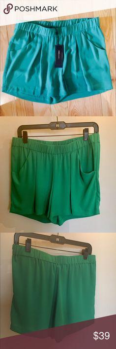 🎀NEW🎀BCBG MAXAZRIA DRAPEY SHORTS 🎀NEW🎀BCBG MAXAZRIA DRAPEY SHORTS  Super comfy. Can be dressed up or down. Beautiful Kelly green color❌no trading or holding BCBGMaxAzria Shorts