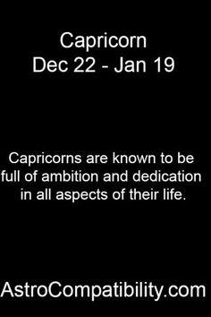 Capricorns are known... | AstroCompatibility.com