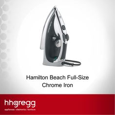 See why customers give the Hamilton Beach Full-Size Chrome Iron 4.4/5 stars on our website.