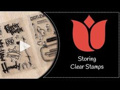 WOW! Video! A Better Way to Store Photopolymer (Clear) Stamps - Mary Fish, Stampin' Pretty The Art of Simple & Pretty Cards