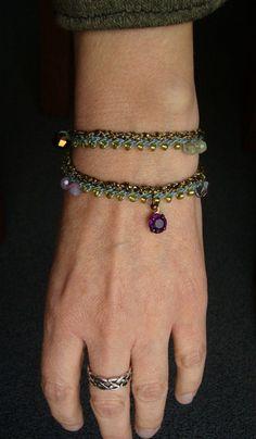 *+Doppelreihiges+Häkelarmbändchen+*+von+crochet.jewels+auf+DaWanda.com
