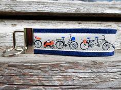 Schlüsselanhänger Fahrräder von Patchwork auf DaWanda.com