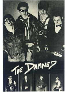 """superseventies:  The Damned promotional poster, 1977.  """