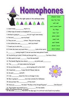 Homophones - Worksheets, Activities & More   Reading   Pinterest ...