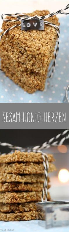 Sesam Gebäck Weihnachten Kekse Plätzchen Honig Herzen Geschenk