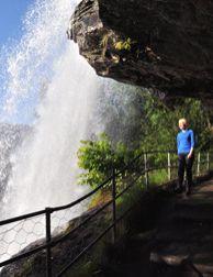 Walk behind Steindalsfossen Waterfall, Norway - Photo: visitnorway.com/Chris Lorang Arnesen