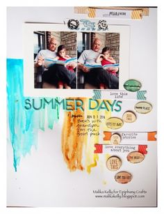 #scrapbook #layout created with the #epiphanycrafts Shape Studio Tool Oval. www.epiphanycrafts.com #summer