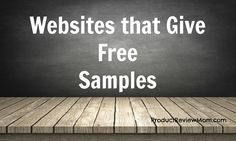 Websites that Give Free Samples