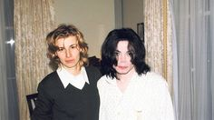 Michael Jackson and Helena Kadlcikova, from my research, I believe she is a painter & photographer.
