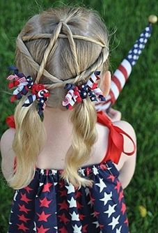 Girl's 4th of July Hairstyle
