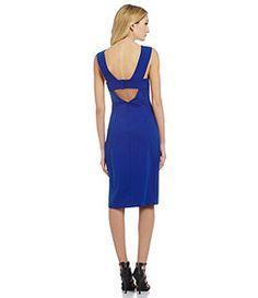 Adelyn Rae Ponte Midi Dress