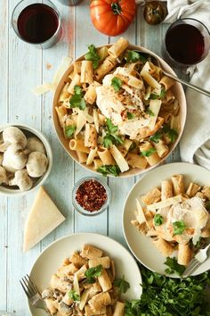 Save the recipe! Chicken Rigatoni, Best Dishes, Recipe Of The Day, Pasta Salad, Macaroni, Grilling, Ethnic Recipes, Food, Crab Pasta Salad