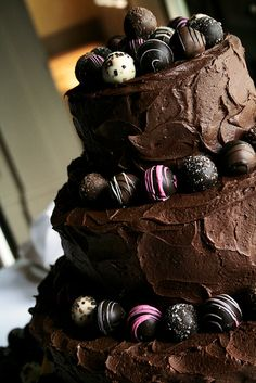 Chocolate cake with truffles
