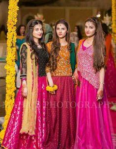For Eraj s sharara. Bridal Mehndi Dresses, Mehendi Outfits, Pakistani Wedding Outfits, Pakistani Dresses, Indian Outfits, Wedding Dresses For Girls, Party Wear Dresses, Girls Dresses, Stylish Dress Designs