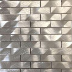 Splashback Tile Urban Silver 12 in. x 12 in. x 8 mm Aluminum Mosaic Tile-UR1X3SILALMNMSC - The Home Depot