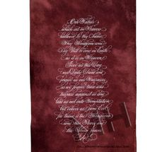 The Lord's Prayer, Maria Helena New Orleans Calligraphy Art