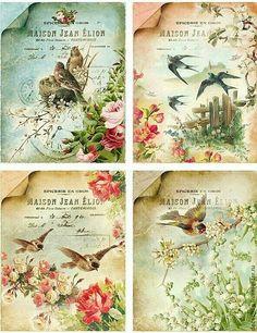 vintage bird tags