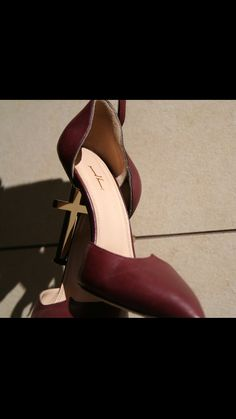 Lamperti Milano Salvation heels burgundy nappa leather