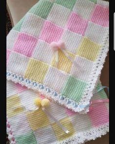 Hand-Knitted Crochet Bobble Heart and Bowknot Blanket Free Pattern - Lap Blanket, Crochet Craft, Pink Blanket Baby Knitting Patterns, Baby Patterns, Stitch Patterns, Design Patterns, Crochet Bobble Blanket, Crochet Blanket Patterns, Tunisian Crochet, Manta Crochet, Crochet Baby