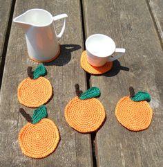 Posavasos de ganchillo / Crochet coasters por Elcuartodelasagujas, €15.00