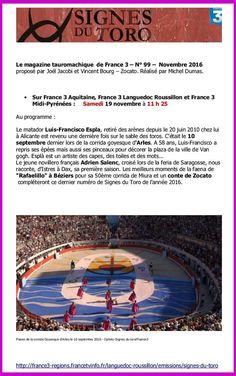 FR3 - SIGNES DU TORO - 19/11/16