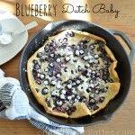 Blueberry Dutch Baby Pancake