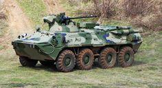El BTR-82A, una versión mejorada de la familia de vehículos BTR-80, es un transporte blindado de personal 8×8 diseñado por los ingenieros de la Military Industrial Company Russia, para los ejércitos de Rusia y Kazajistán. La producción del BTR-82A APC se inició en septiembre de 2013, estimándose las primeras entregas al ejército ruso en 2015. ,