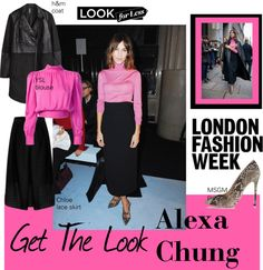 """""""#LFW get the look Alexa Chung"""" by soguemoments ❤ liked on Polyvore"""