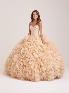 Allure Quinceanera - Q501 Feel like a princess in this dazzling strapless ballgown